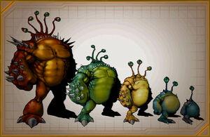 Tyhrranoid types