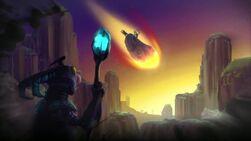 Asteroide precipita