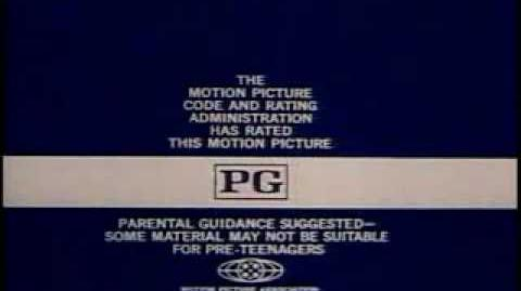 MPAA rating at end of movie clip