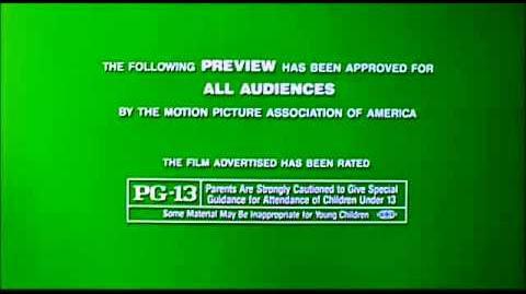 Original PG-13 MPAA bumper
