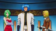 Sieg Reina and Jegan listen to King