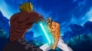 King stops Gale's attack