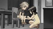 Cattleya heals Haru's wound