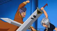 Haru Blocks Lance's attack
