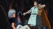 Masked man saves Haru