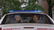 Girl Spot Raven In Cop Car