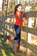 Navia Robinson at the farm (UL 4)