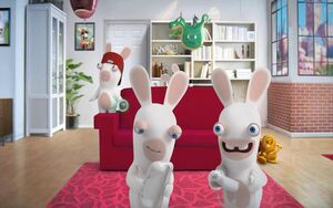 Rabbid living room