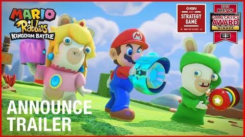 Mario + Rabbids Kingdom Battle E3 2017 Announcement Trailer Ubisoft US