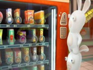 Rabbids Invasion Pepper Juice in a Vending Machine