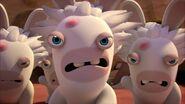 Professor Mad Rabbid and his clones