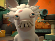 Rabbids Invasion Professor Mad Rabbid with a Mustache (Mad Rabbid and the Genius's Mustache)