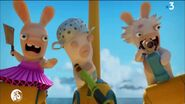 Three Rabbids with ther weapons