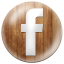 Wooden Button Facebook-64x64