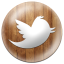 Wooden Button Twitter-64x64