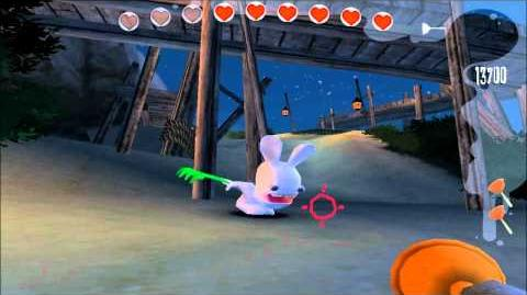Rayman Raving Rabbids Walkthrough Test 50 Bunnies Don't Like Being Disturbed At Night
