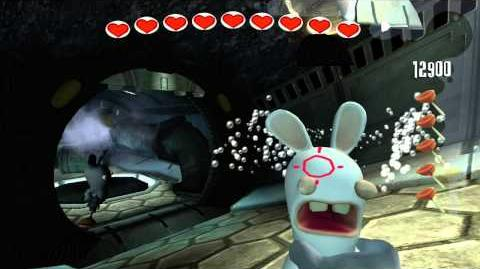 Rayman Raving Rabbids Walkthrough Bunnies Aren't Scared of the Dark