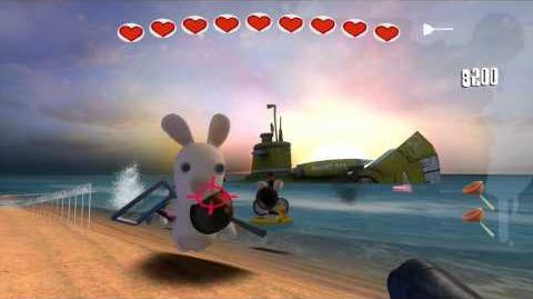 Rayman Raving Rabbids Walkthrough Bunnies Don't Like Being Disturbed On Holiday