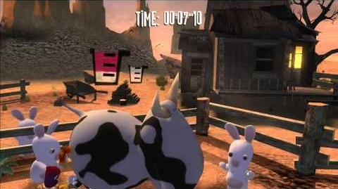 Rayman Raving Rabbids Walkthrough Bunnies Don't Milk Cows Part 2-1