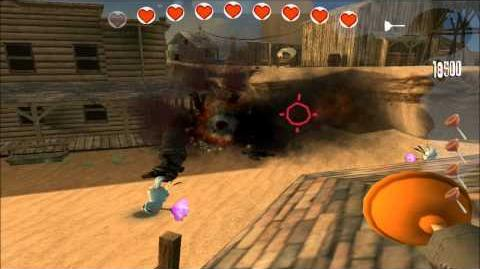 Rayman Raving Rabbids Walkthrough Test 55 Bunnies Helped Tame The Wild West