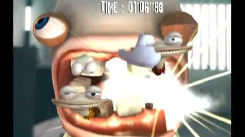 Rayman Raving Rabbids- Bunnies don't use toothpaste