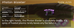 Photon Blaster Game Stats