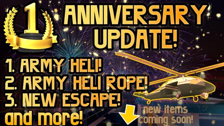1 Year Anniversary Update Roblox Jailbreak Wiki Fandom Powered