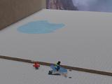 Mountain Hiker's Ice Pile