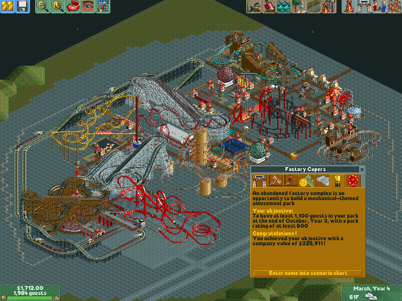 Factory Capers/Scenario Guide | RollerCoaster Tycoon