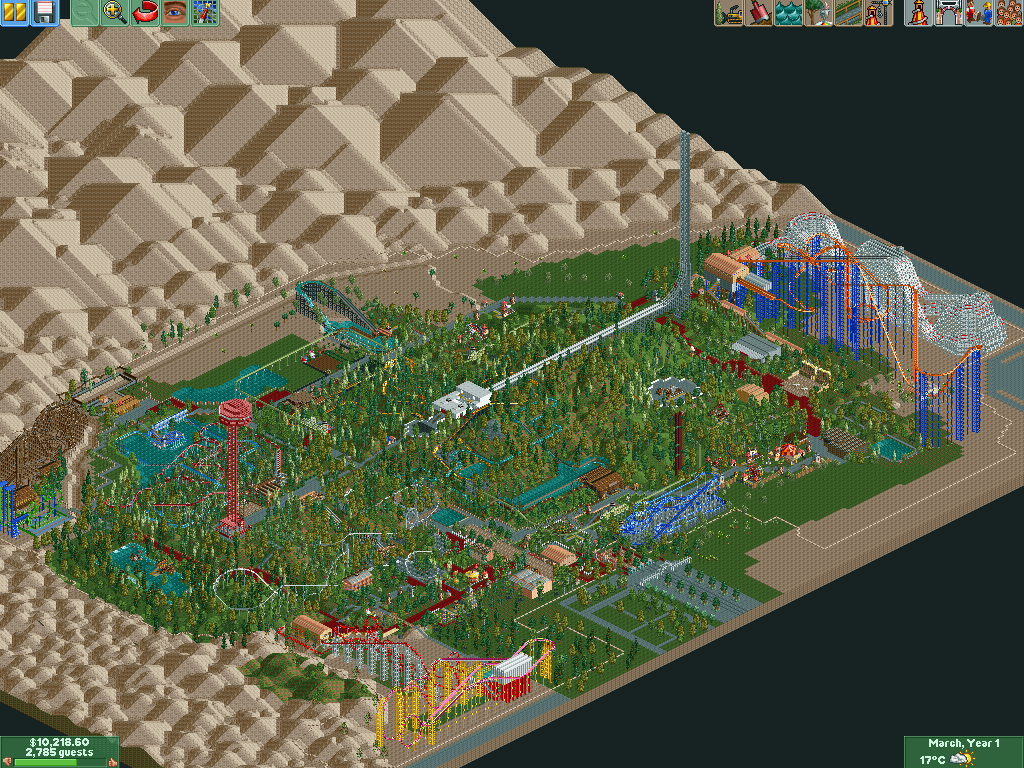 Six Flags Magic Mountain | RollerCoaster Tycoon | FANDOM