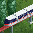 Streamlined Monorail Trains RCT2 Icon