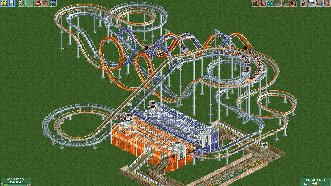 RollerCoaster Tycoon:Ride Exchange/MontagnaMagica\'s Designs ...