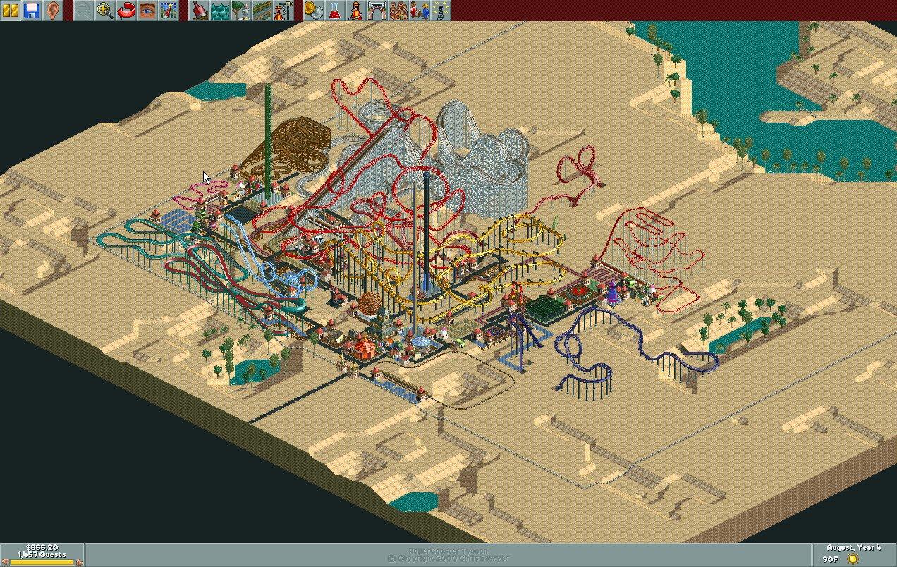 Dusty Desert/Scenario Guide | RollerCoaster Tycoon | FANDOM powered