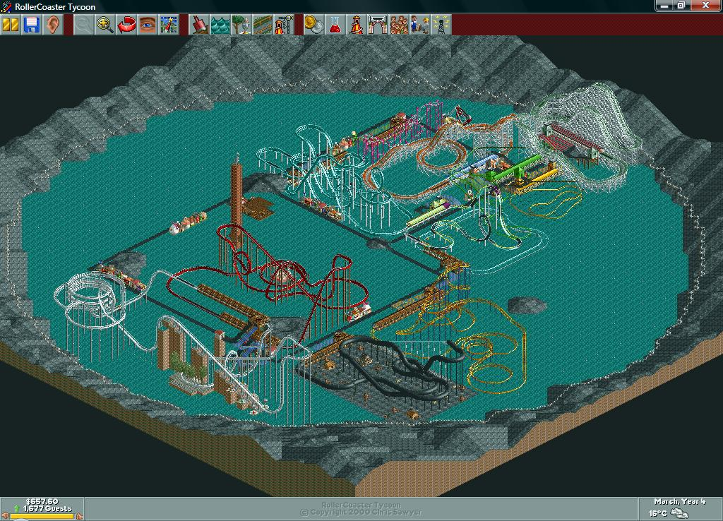 Image result for roller coaster tycoon crater lake