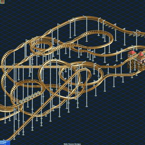 A custom designed Flying Roller Coaster