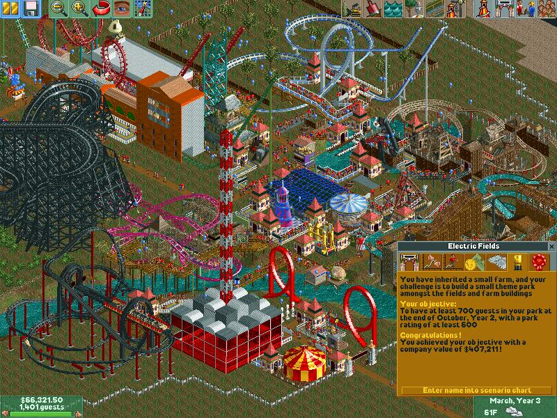 Electric Fields/Scenario Guide   RollerCoaster Tycoon