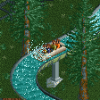 Log Flume RCT2 Icon