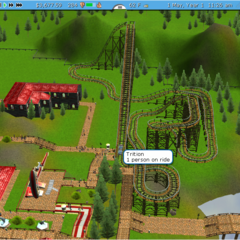 Wooden roller coaster made in RCT3. Name: Trition