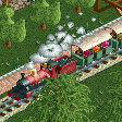 Steam Trains with Covered Cars RCT2 Icon