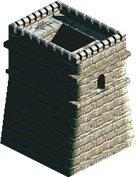 Great Wall Of China Turret Straight