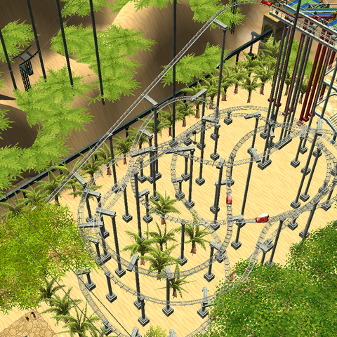 <i>Ravine</i> in action with Themed scenery around.