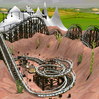 Wooden Roller Coaster | RollerCoaster Tycoon | FANDOM powered by Wikia