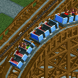 Wooden Roller Coaster (6 seater, Reversed) RCT2 Icon