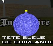 73 - tete bleue de guirlande
