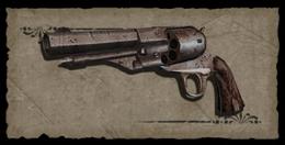 Fondo vieja pistola