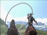 Longhorn Luke y lazo