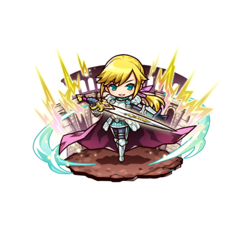 Artunel Bayard Rickenbar (Hero of Roaring Thunder) in the mobile game