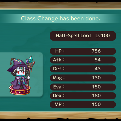 Your MC as a Half Spell Lord in the mobile game