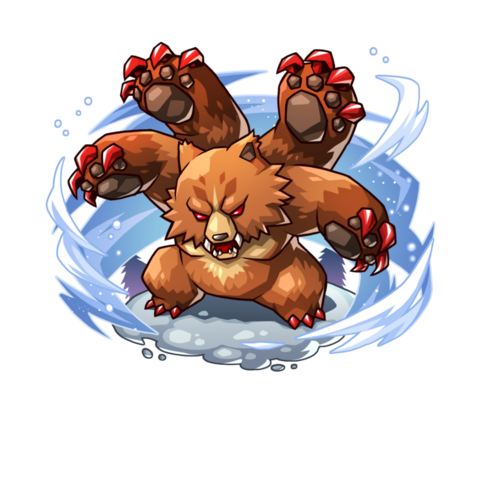 A Four Armed Bear in the mobile game