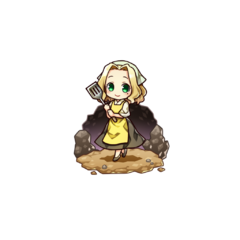 Alma as a Cook in the mobile game